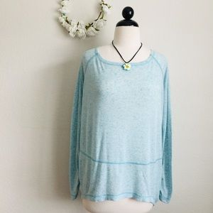 Free People (We The Free) Hi-Lo Blue Top